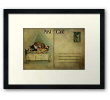 Post Card - Fish Supper Framed Print