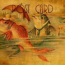 Post Card - Love among the Fishes by © Kira Bodensted