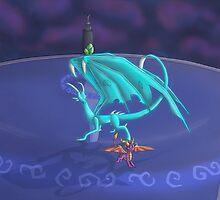 Spyro VS Elemental dragon by floravola
