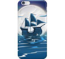 Sailship Voyage under the Moonlight iPhone Case/Skin