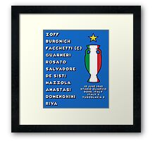 Italy Euro 1968 Winners Framed Print