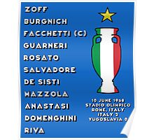 Italy Euro 1968 Winners Poster