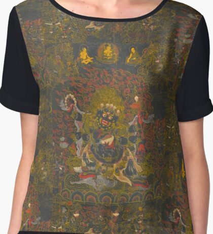 Yama and the Buddha Chiffon Top