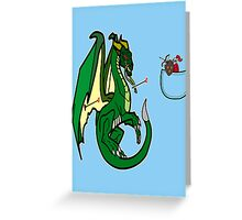 Dragons and Knights Greeting Card