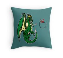 Dragons and Knights Throw Pillow