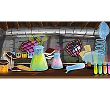 Science Laboratory with experiments bubbling Photographic Print