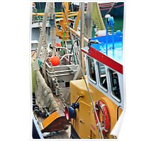 Fishing boat for North Sea shrimps Poster
