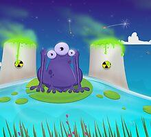 Atomic Frog Thing by Nick  Greenaway