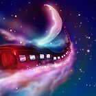 Train Voyage to the Moon by Nick  Greenaway