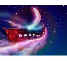 Train Voyage to the Moon Photographic Print