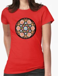 Millefiori Floral Womens Fitted T-Shirt