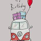 Birthday Camper Van With Presents  by AndyLanhamArt