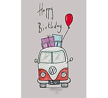 Birthday Camper Van With Presents  Photographic Print