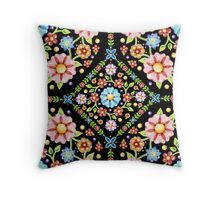 Millefiori Floral Throw Pillow