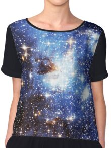 Blue Galaxy 3.0 Chiffon Top