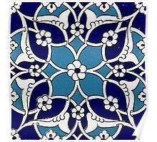 turkish tile pattern 10 Poster
