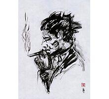 Smoking Man (sumi-e) Photographic Print