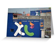 XL wall graffiti Greeting Card