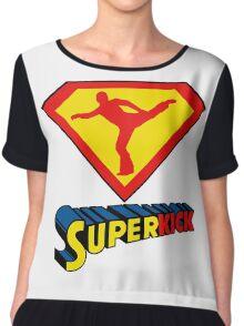 Superkick! (White) Chiffon Top