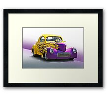 1941 Willys 'Pro Street' Coupe Framed Print