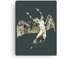 ICARUS THROWS THE HORNS - antique grunge Canvas Print