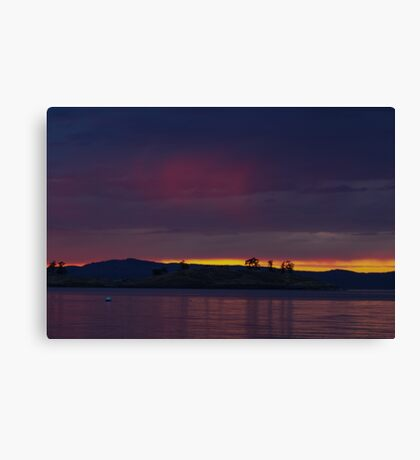 Sunset over Spieden Canvas Print