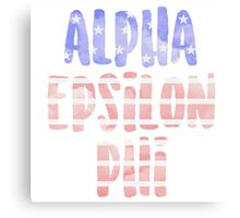 Alpha Epsilon Phi Canvas Print