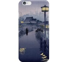 Japanese Print: Rainy Night in Tokyo iPhone Case/Skin