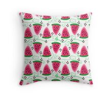 the pattern of watermelons. Throw Pillow