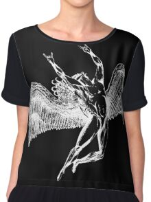 ICARUS THROWING THE HORNS - white Chiffon Top