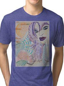 Setting Mermaid Tri-blend T-Shirt