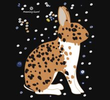 Black Spotted Japanese Rabbit Baby Tee