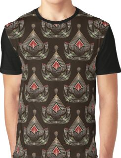 Seamless beautiful antique pattern ornament. Geometric background design, repeating texture. Graphic T-Shirt