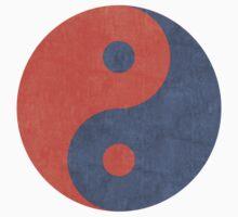 Yin Yang Zen Stencil Kids Tee