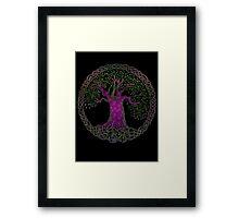 TREE OF LIFE - purple passion Framed Print