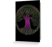 TREE OF LIFE - purple passion Greeting Card