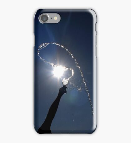 Man throwing water from a wine glass iPhone Case/Skin