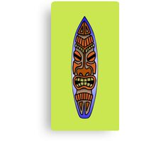 Tiki Surfboard Canvas Print