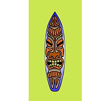 Tiki Surfboard Photographic Print