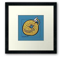 Sesame Bagel :: Carnivorous Foods Series Framed Print
