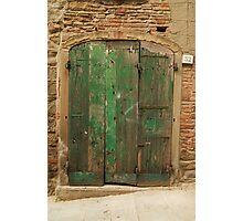 Green Door 32 Photographic Print