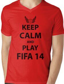 Keep Calm And Play Fifa 2014 Mens V-Neck T-Shirt