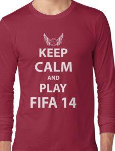 Keep Calm And Play Fifa 2014 Long Sleeve T-Shirt
