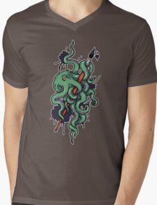 Octopus Ink Mens V-Neck T-Shirt