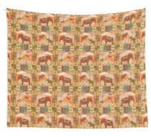 African style seamless pattern with elephant background Wall Tapestry