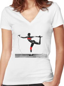 Grace Jones - Island Life Women's Fitted V-Neck T-Shirt
