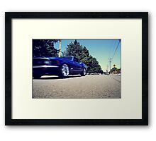 Blink, and it's... Framed Print