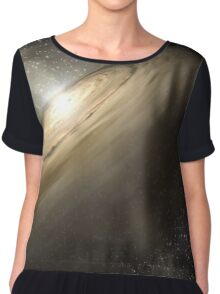 Star System Composite Photo Chiffon Top