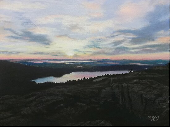 """Sunset On Cadillac Mountain"" by Rik Kent"