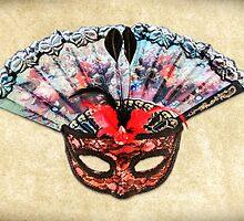 Mask and Hand Fan by MMPhotographyUK